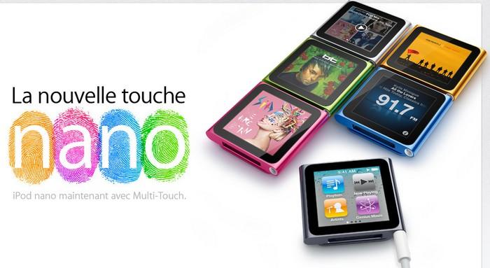 deezer sur ipod nano