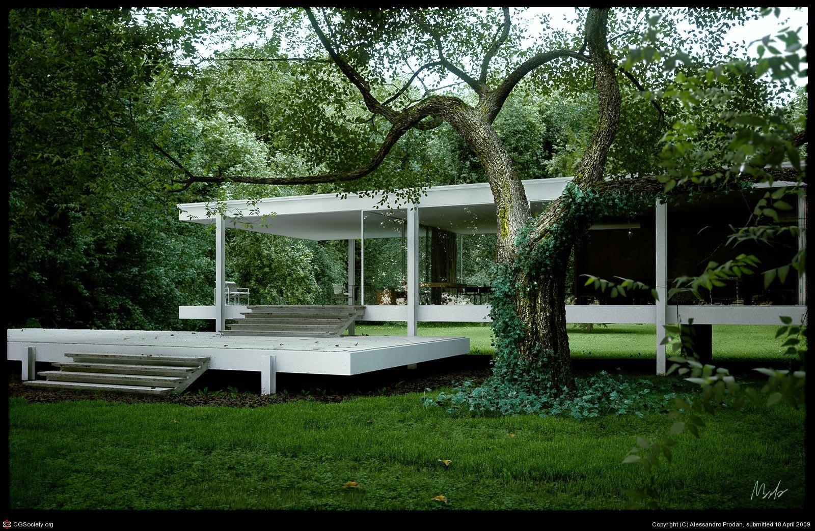 google aux couleurs de ludwig mies van der rohe at diaposon. Black Bedroom Furniture Sets. Home Design Ideas