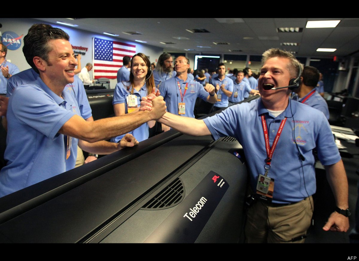 nasa staff at work -#main